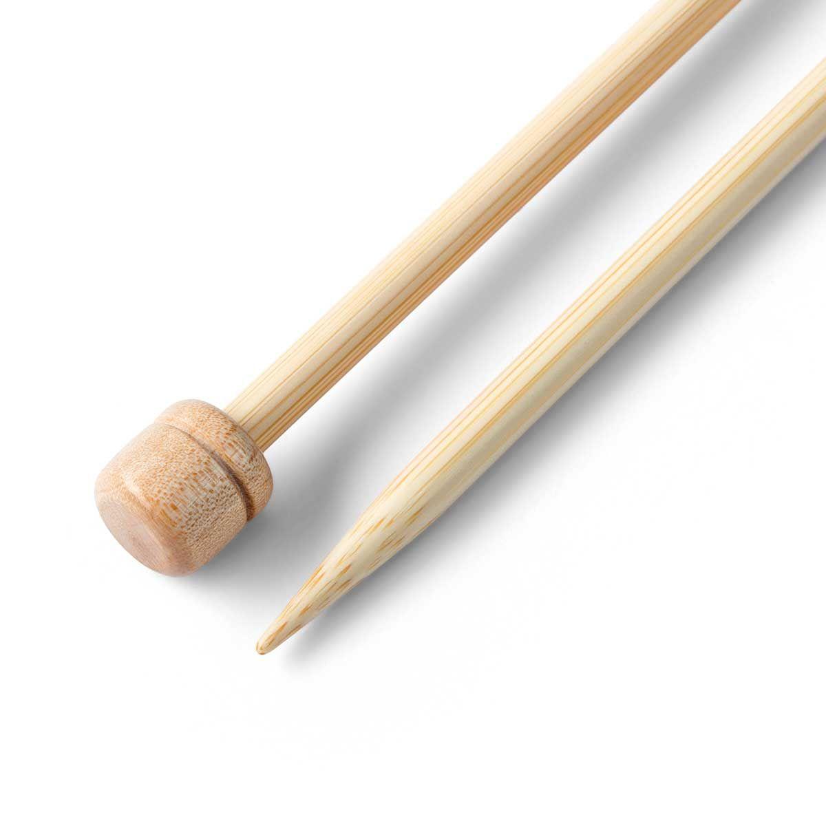 Aiguilles à tricoter 33 cm en bambou