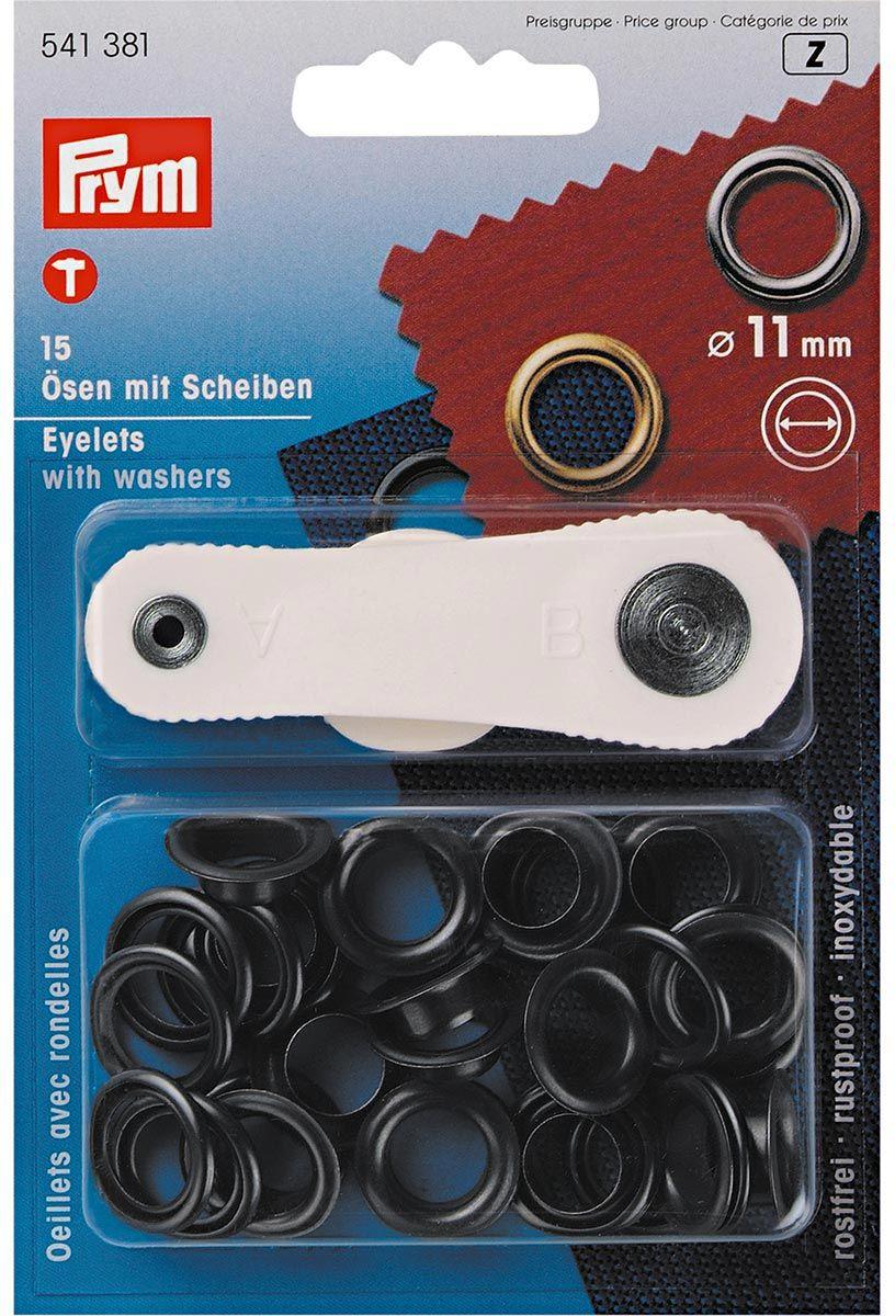 Boite 15 oeillets 11 mm avec outil de pose - Noir