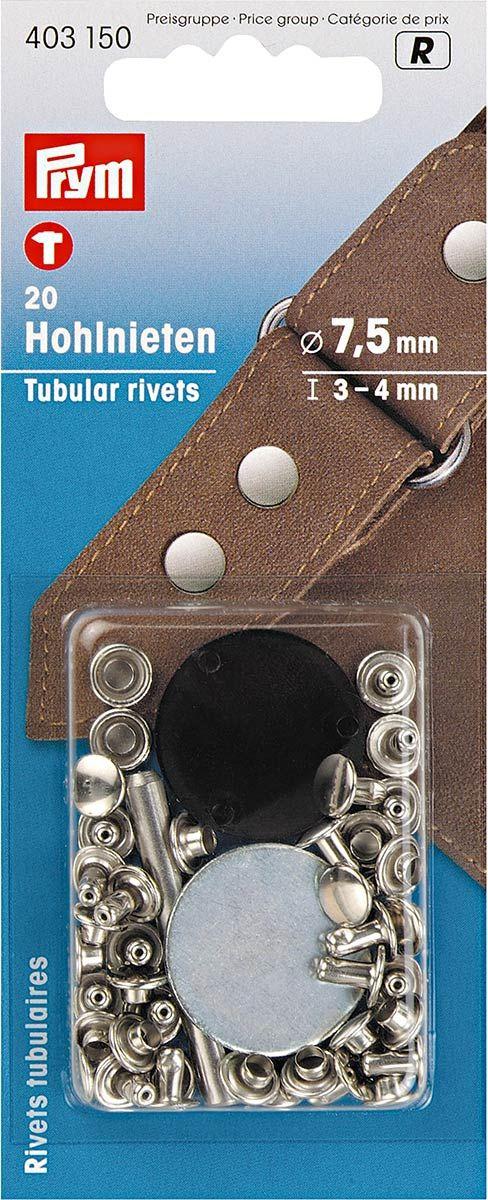 Lot de 20 rivets tubulaires 3-4 mm
