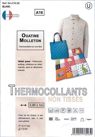 Ouatine molleton thermocollant
