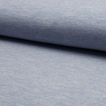Tissu jogging mélangé - Bleu