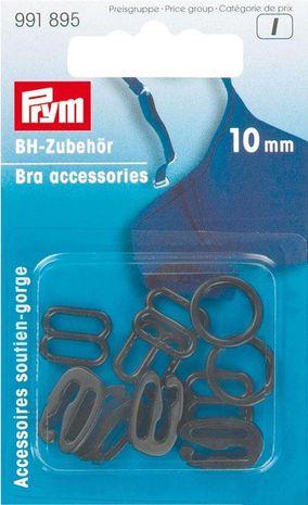 Accessoires de soutien gorge 10 mm noir