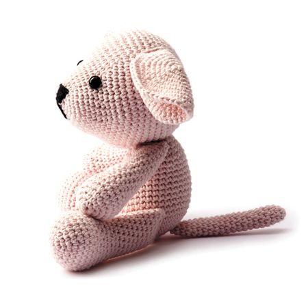 Kit crochet amigurumi - Chien rose