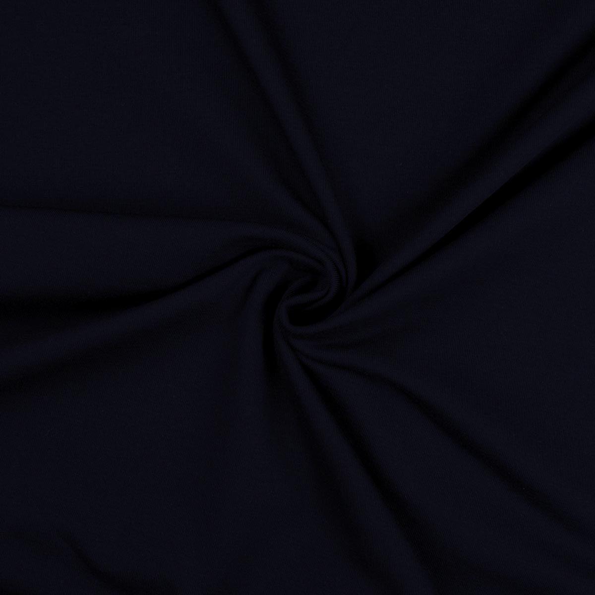 Tissu jersey coton - Bleu indigo
