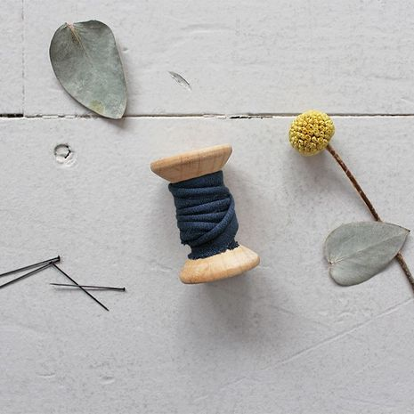 Passepoil crêpe de viscose Midnight au mètre - Atelier Brunette