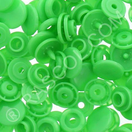 Sachet de 25 pressions résine KAM ronds - Vert clair
