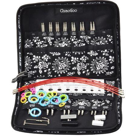 Pochette d´aiguilles à tricoter circulaires en métal ChiaoGoo