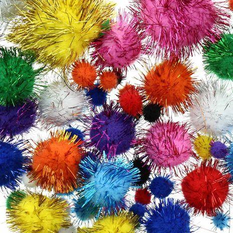 Set de 60 pompons brillants - Multicolore