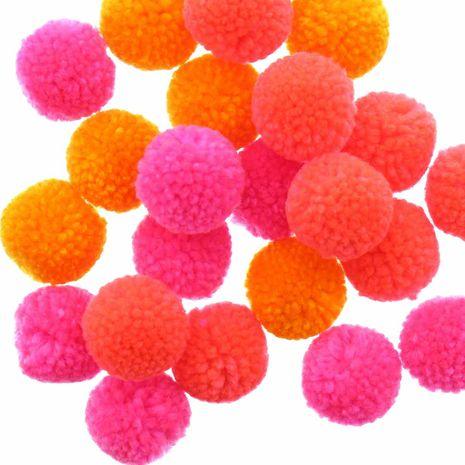 Set de 24 pompons en laine - Fluo