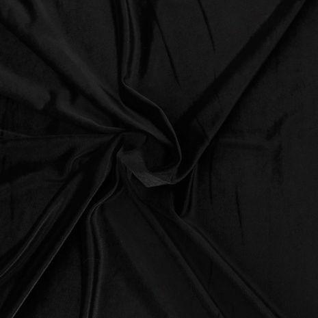Tissu velours stretch - Noir
