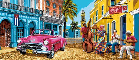 Kit canevas pénélope Luc Créations - Cuba