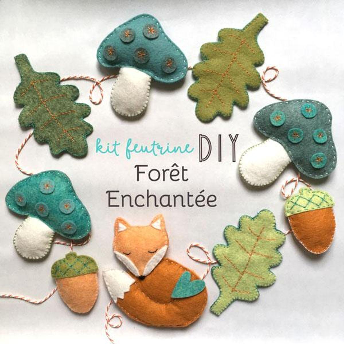 Kit feutrine DIY forêt enchantée