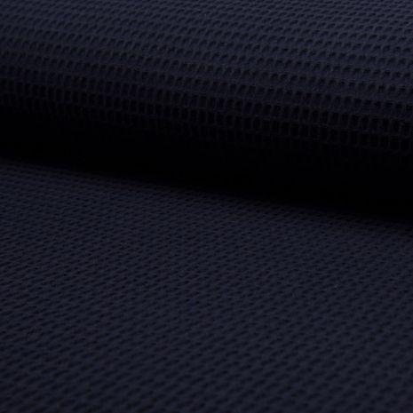 Tissu torchon nid d´abeille - Bleu marine