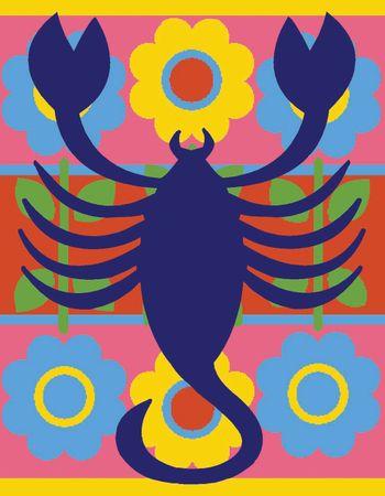 Kit canevas pénélope Margot de Paris - Signe du zodiaque - Scorpion
