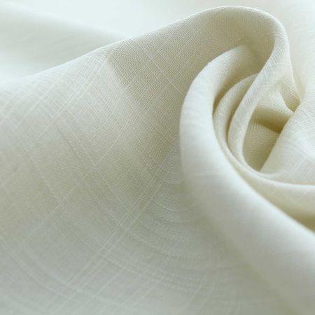 Tissu lin viscose - Ecru