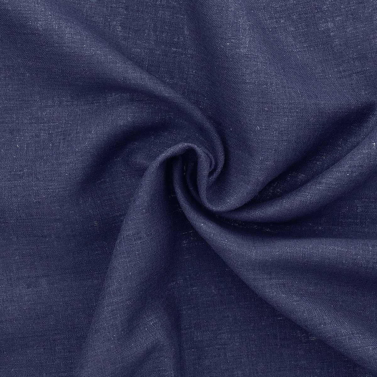Tissu lin viscose - Bleu marine