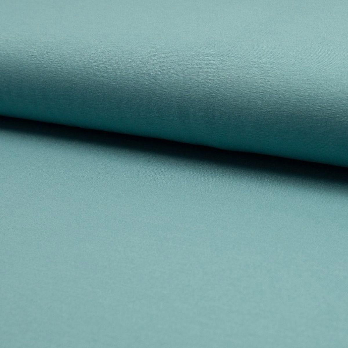 Tissu jersey viscose - Bleu vert