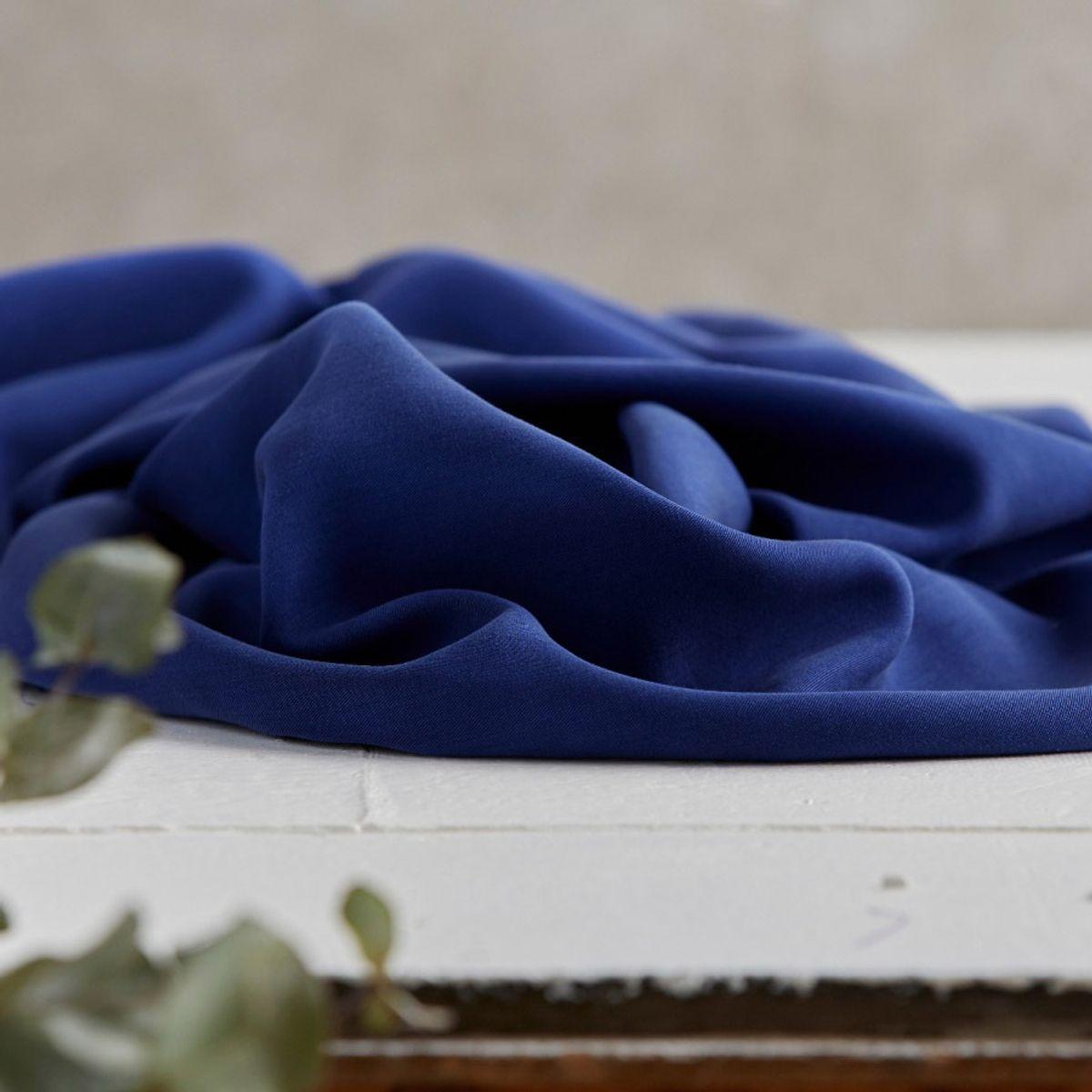 Tissu tencel - Bleu lapis