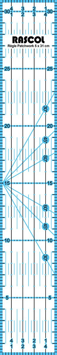 Règle patchwork Rascol 5 x 30 cm